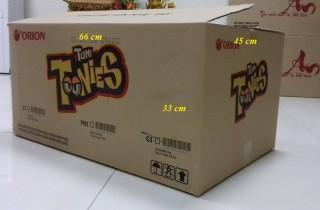 Thùng carton cũ 3 lớp tonies