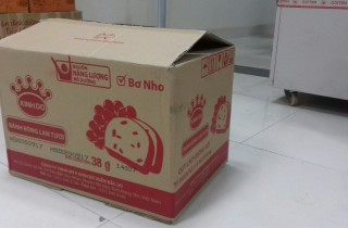 thùng carton cũ 3 lớp nho