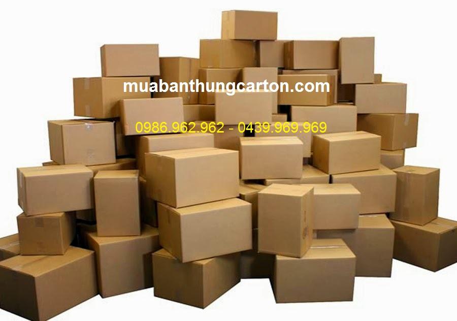 Mua thùng carton cũ mới chất lượng, giá rẻ
