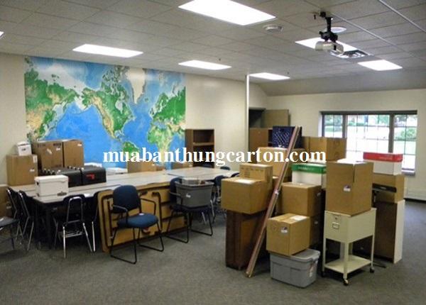 Thùng carton- vật dụng chuyển văn phòng không thể thiếu