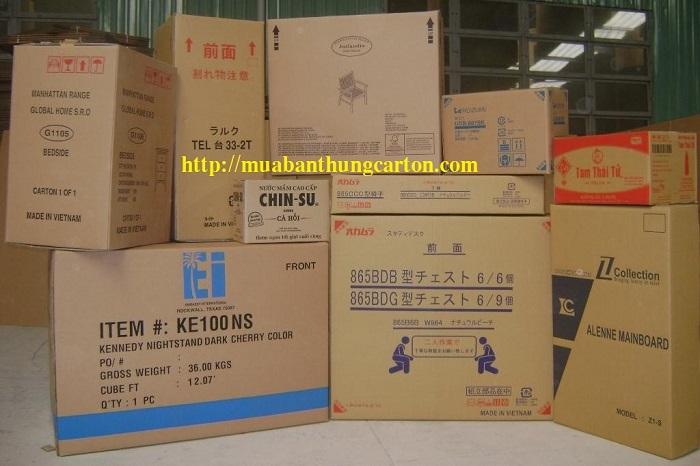 Cách chọn mua thùng carton cũ