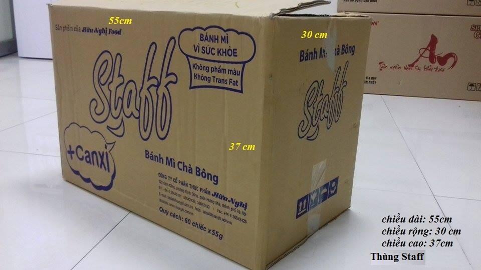 Thùng carton cũ staff