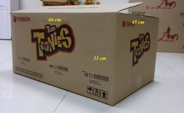 Thùng carton 3 lớp cũ toonies