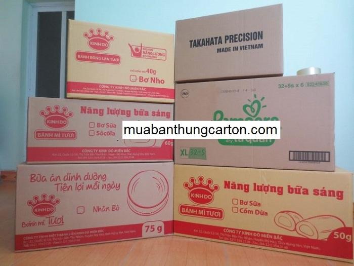 Các loại thùng carton cũ chất lượng mà chúng tôi cung cấp